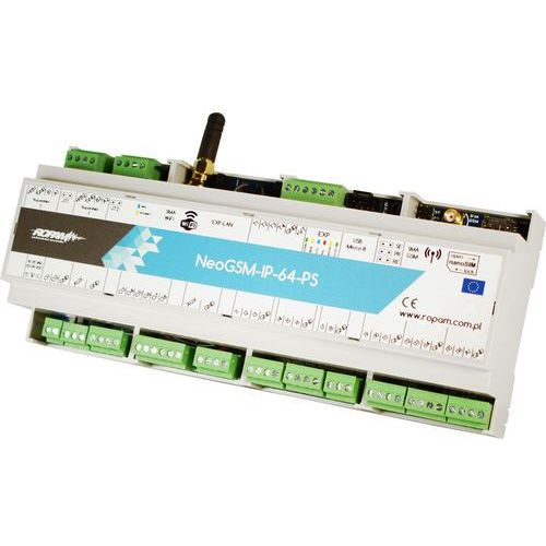 Centrala alarmowa Ropam NeoGSM-IP-64-PS-D12M, NeoGSM-IP-64-PS-D12M