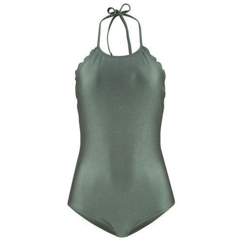 Figi bikini bonprix ciemnoniebiesko-biały, kolor zielony