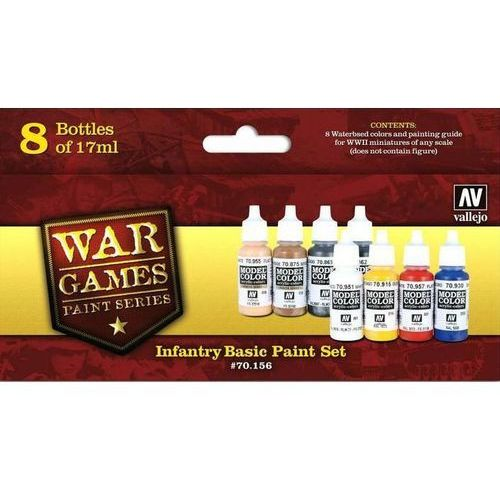 Vallejo 70156 WWII War Games Infantry Basic Paint Set