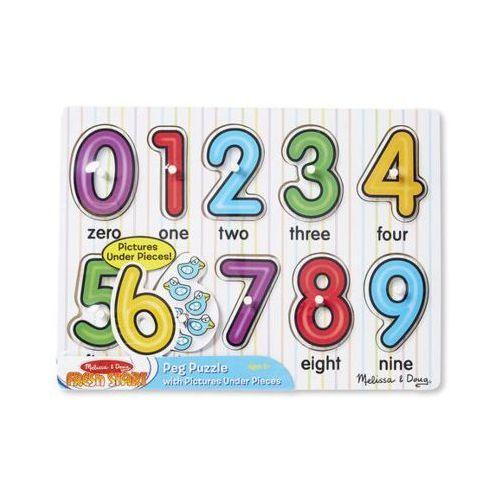 Melissa & doug Zabawka edukacyjna układanka cyferki 13273 (0000772132732)