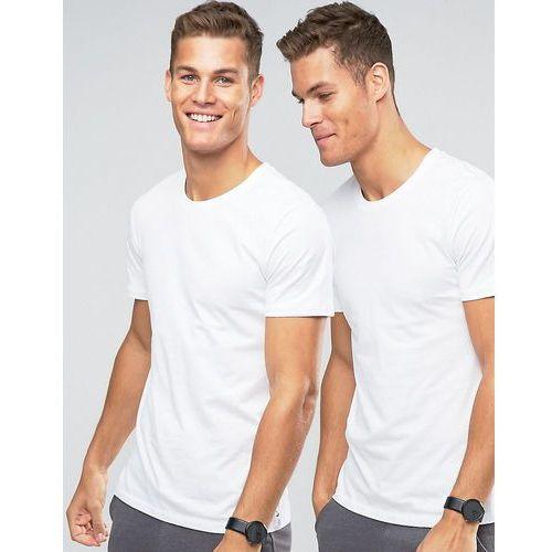 Levi's Crew Neck T-Shirt In 2 Pack In Regular Fit - White, kolor biały