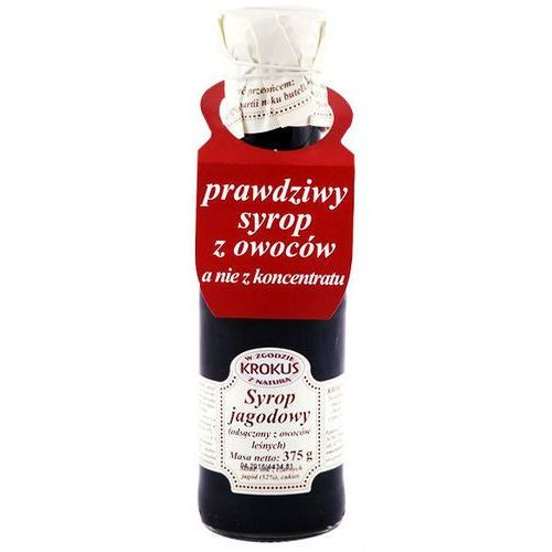 Syrop jagodowy sok jagody 375g - marki Krokus