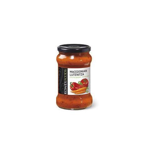 Macedońska lutenica - pasta warzywna z kawałkami papryki , łagodna 290g. - konex foods marki Konexfoods