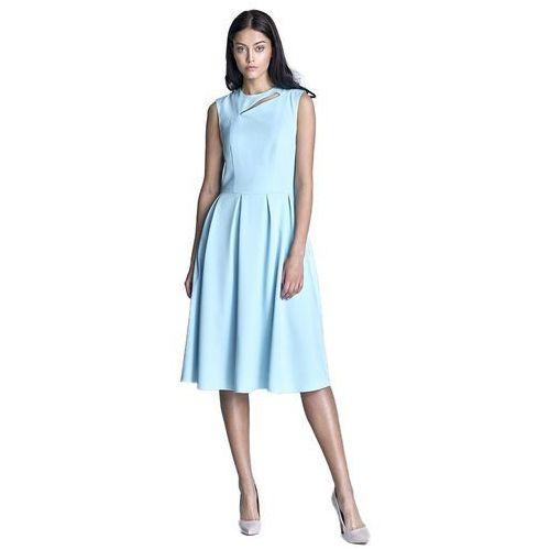 Sukienka midi - błękit - s73, Nife