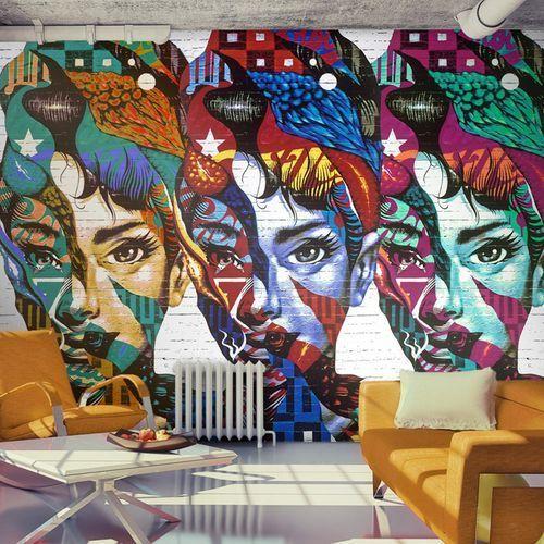 Fototapeta - Kolorowe twarze z kategorii Fototapety