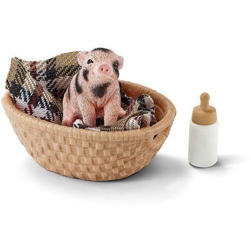 Mała świnka z butelką - . darmowa dostawa do kiosku ruchu od 24,99zł marki Schleich