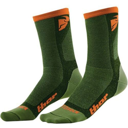 Thor_2018 Thor skarpety dual sport s6 casual green/orange =$