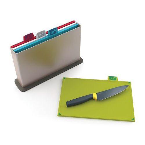 Deski do krojenia zestaw 4szt. Joseph Joseph Index + nóż szefa gratis