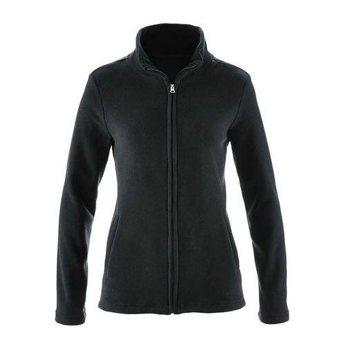 Bluza rozpinana z polaru z wpuszczanymi kieszeniami bonprix czarny, poliester