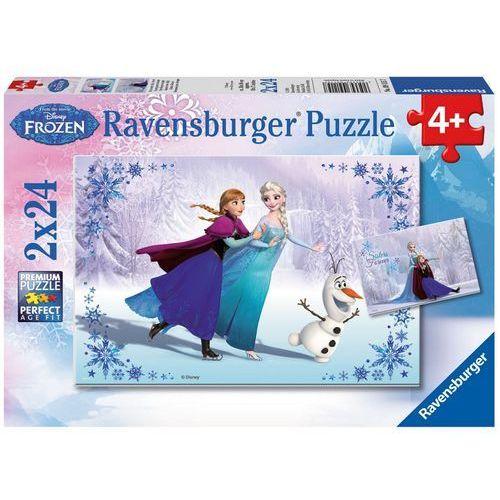 Puzzle 2x24 elementów - Frozen: Siostry [2 szt.]