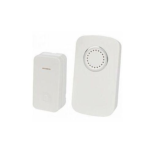 Perel bezprzewodowy, zasilany z baterii dzwonek do drzwi z 1 przyciskiem kinetycznym - zestaw