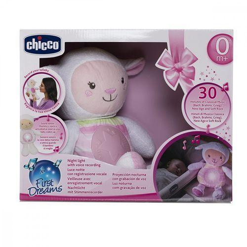 Chicco Owieczka z nocną lampką różowa