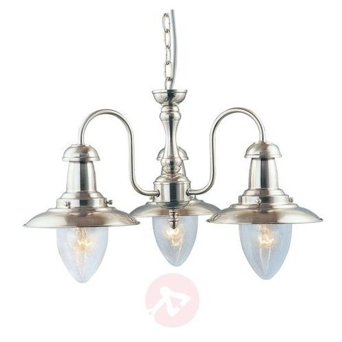 Morska lampa wisząca FISHERMAN, srebrna satynowana, RDV5333-3SS
