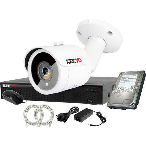 Plug&play zestaw do monitoringu ip rejestrator lv-nvr4415s-4p + 1x kamera lv-ip2m3tfe + 1tb marki Keeyo