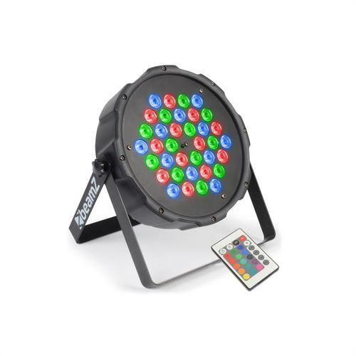 beamZ FlatPAR 36 x 1W Projektor PAR RGB LED DMX IR z pilotem