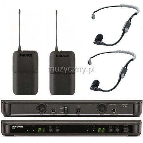 Shure BLX188/SM 35 Wireless mikrofon bezprzewodowy podwójny, nagłowny SM 35