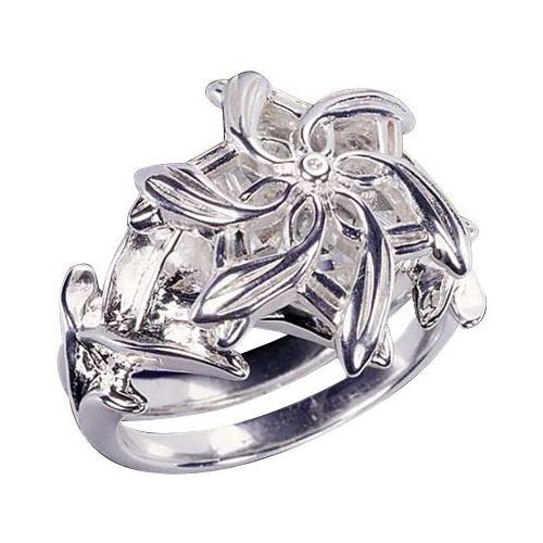 Lotr pierścień galadrieli - srebrny (nn9174_07) marki The noble collection