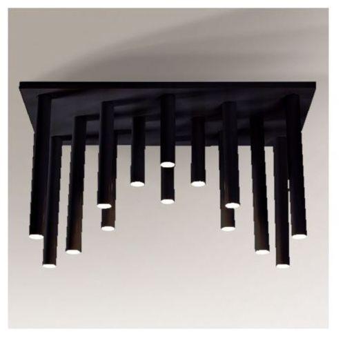 Plafon lampa sufitowa yabu 1168/gu10/cz metalowa oprawa minimalistyczna sople tuby czarne marki Shilo