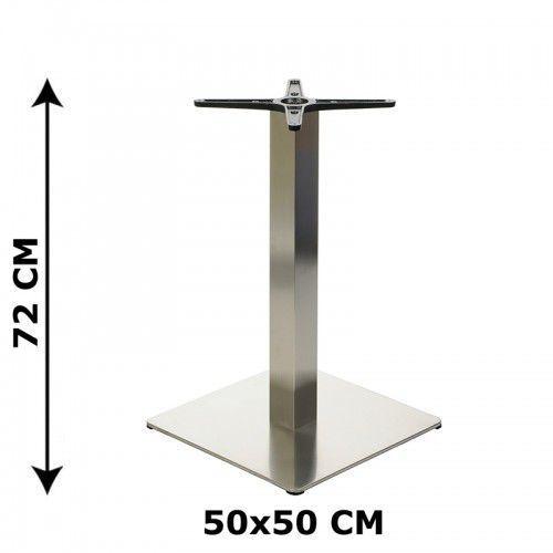 PODSTAWA STOLIKA 50x50, STAL NIERDZEWNA POLEROWANA LUB SZCZOTKOWANA( stelaż stolika) - E78/50/P/S z kategorii Pozostałe