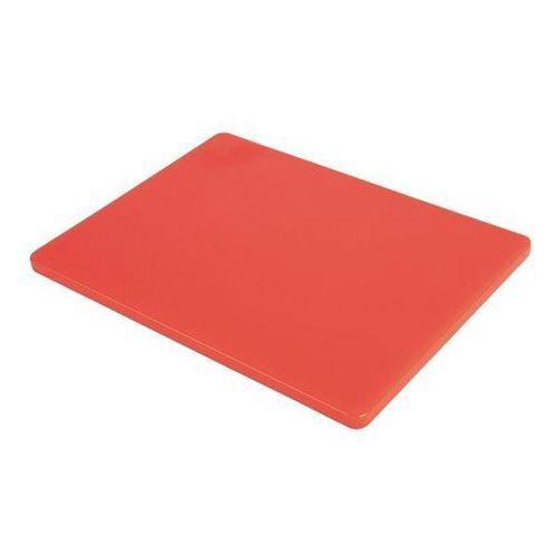 Deska do krojenia | duża | niska gęstość | czerwona marki Hygiplas