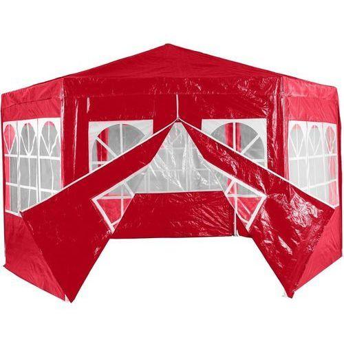 Mks Czerwony pawilon namiot ogrodowy handlowy 6 ścianek - czerwony