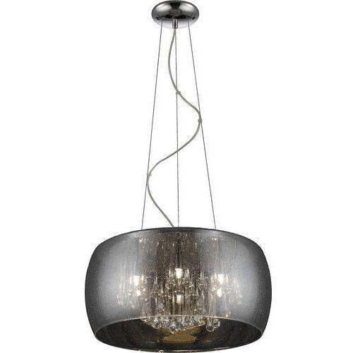 Zumaline rain lampa wisząca 5*g9 max 42w metal chrome smoky glasscrystal drops inside ip 20 p0076-05l-f4k9