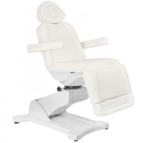 Activeshop Fotel kosmetyczny elektr. azzurro 869a obrotowy 4 siln. biały