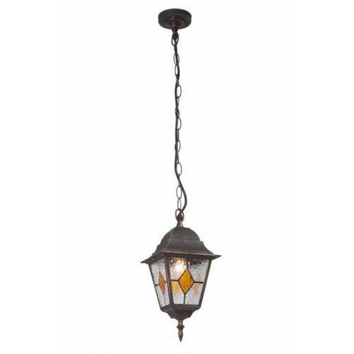 Oświetlenie brilliant Brilliant jason zewnętrzna lampa wisząca czarny, rudy, brązowy, 1-punktowy (4004353147708)