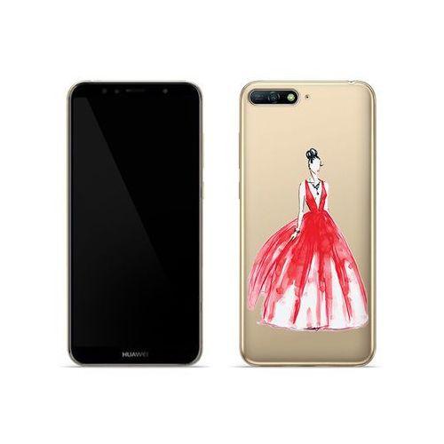 Etuo crystal design Huawei y6 (2018) - etui na telefon crystal design - pastelowa czerwień