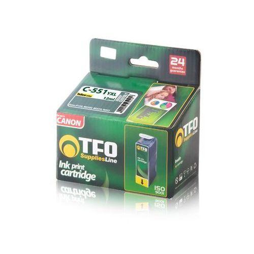 Tusz TFO C-551YXL (CLI551XL Y) 12ml (5900495250216)