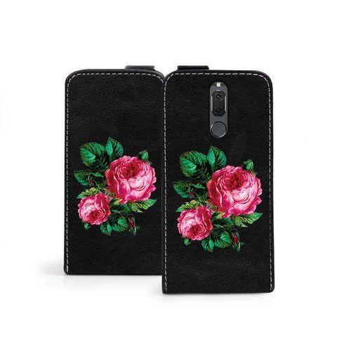 Huawei Mate 10 Lite - etui na telefon Flip Fantastic - czerwone róże, kolor czerwony