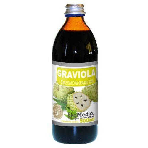 Graviola sok 100% z owoców (500 ml) EkaMedica, 1076