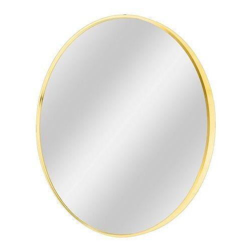 Lustro okrągłe Dubiel Vitrum Nico 70 cm w ramie złote, kolor biały