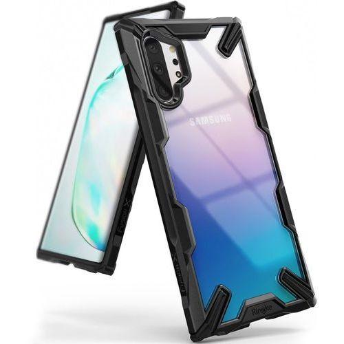 Ringke Fusion X etui pancerny pokrowiec z ramką Samsung Galaxy Note 10 Plus czarny (FUSG0029) - Czarny, kolor czarny