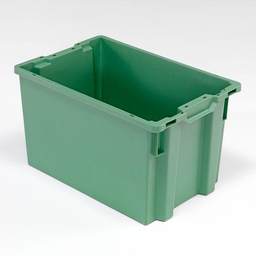 Zielony pojemnik plastikowy o poj. 66l - 400x350x600mm marki Array