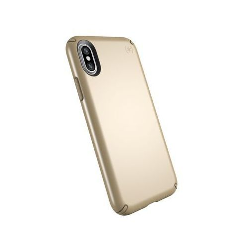Speck presidio metallic etui obudowa iphone xs / x (pale yellow gold metallic/camel brown)