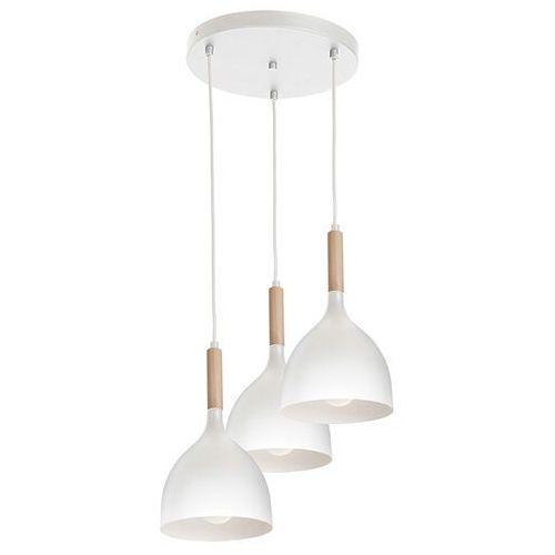 Luminex Noak wood 1195 lampa wisząca zwis 3x60W E27 biały / brązowy (5907565911954)