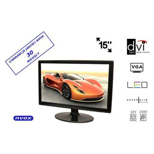 "NVOX PCA154 VGA DVI Monitor LCD 15"" cali LED VGA DVI 12V 230V (5909182417666)"
