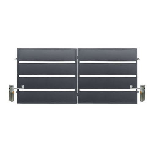 Polbram steel group Brama z automatem leda 3 5 x 1 58 m ocynk antracyt (5901122311089)