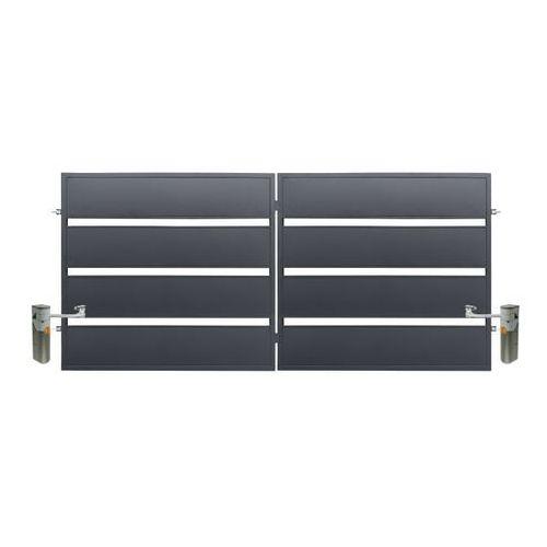 Polbram steel group Brama z automatem leda 3,5 x 1,58 m ocynk antracyt (5901122311089)