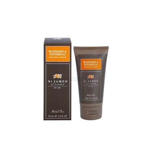St. James Of London Mandarin & Patchouli krem do golenia dla mężczyzn 75 ml cestovní balení + do każdego zamówienia upominek.
