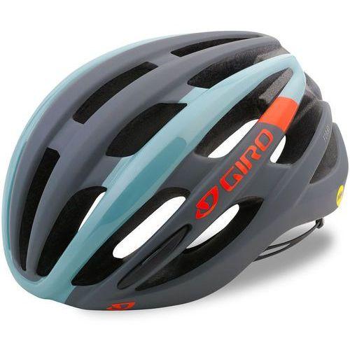 Giro foray mips kask rowerowy szary/turkusowy m | 55-59cm 2018 kaski miejskie i trekkingowe (0768686076541)