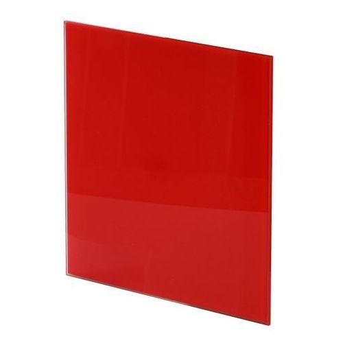 Panel do wentylatora Awenta Trax Glass fi 125 mm czerwony, PTGR125P
