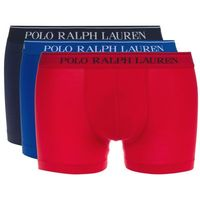 Bokserki gładkie POLO RALPH LAUREN (zestaw 3 par), kolor niebieski