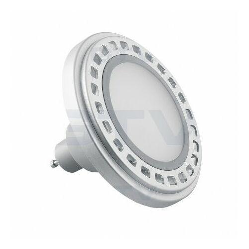 Żarówka LED 12W 850lm GU10 ES111 ciepły biały z srebrnym aluminiowym radiatorem z mleczną szybką GTV 9668 (5901867109668)