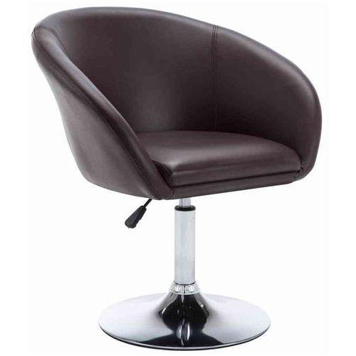 Obrotowe krzesło do jadalni, ekoskóra, 67,5x58,5x87 cm, brązowe, kolor brązowy