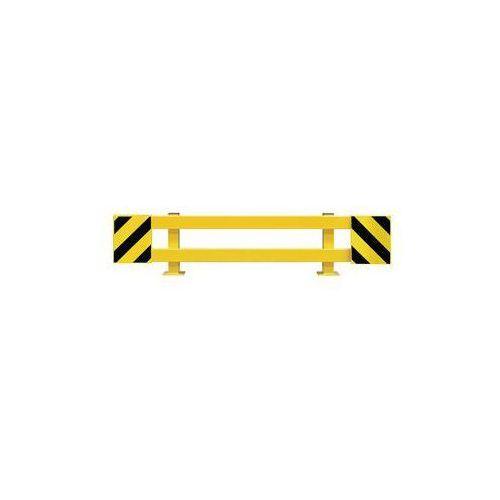 Zestaw barierek do ochrony regałów,do regału podwójnego, rozsuwane 1700 - 2100 mm