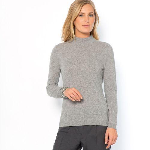 Sweter z golfem z czystego kaszmiru