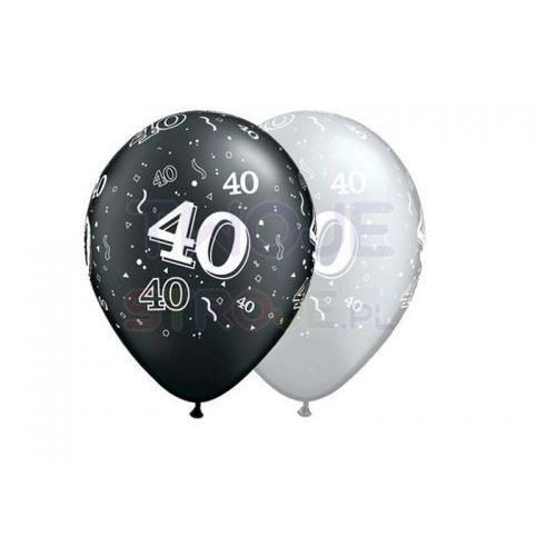 Balon szary/czarny 40th birthday 27cm 1szt marki Twojestroje.pl