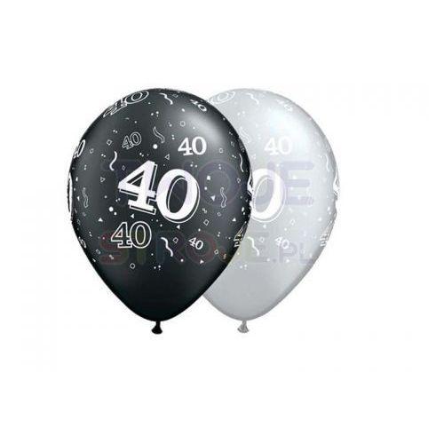 Twojestroje.pl Balon szary/czarny 40th birthday 27cm 1szt